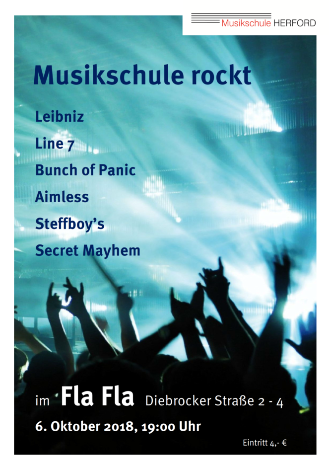 Musikschule Herford rockt 2018